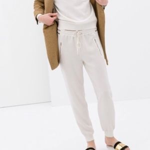 Zara Crepe Jogger Pants